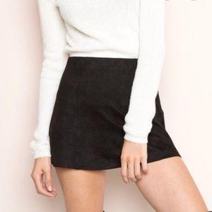 NWOT Brandy Melville Faux Suede Mini Skirt